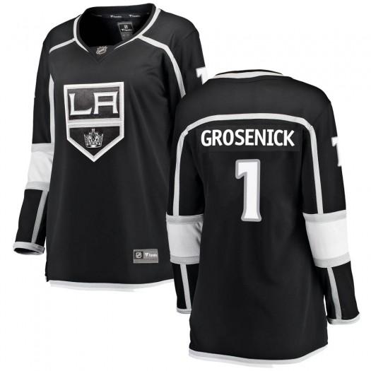 Troy Grosenick Los Angeles Kings Women's Fanatics Branded Black Breakaway Home Jersey