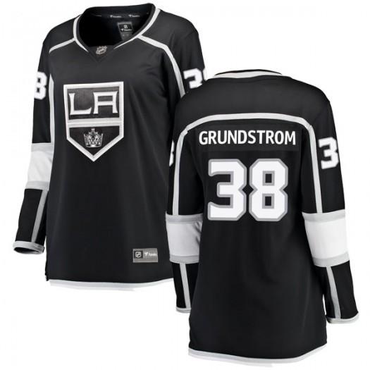 Carl Grundstrom Los Angeles Kings Women's Fanatics Branded Black Breakaway Home Jersey