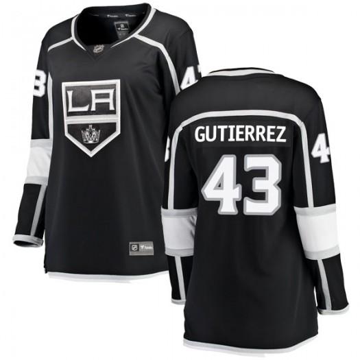 Justin Gutierrez Los Angeles Kings Women's Fanatics Branded Black Breakaway Home Jersey