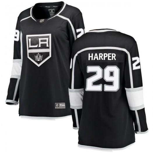 Shane Harper Los Angeles Kings Women's Fanatics Branded Black Breakaway Home Jersey