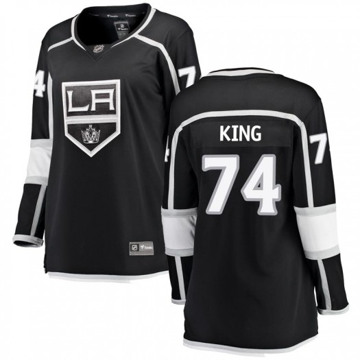 Dwight King Los Angeles Kings Women's Fanatics Branded Black Breakaway Home Jersey