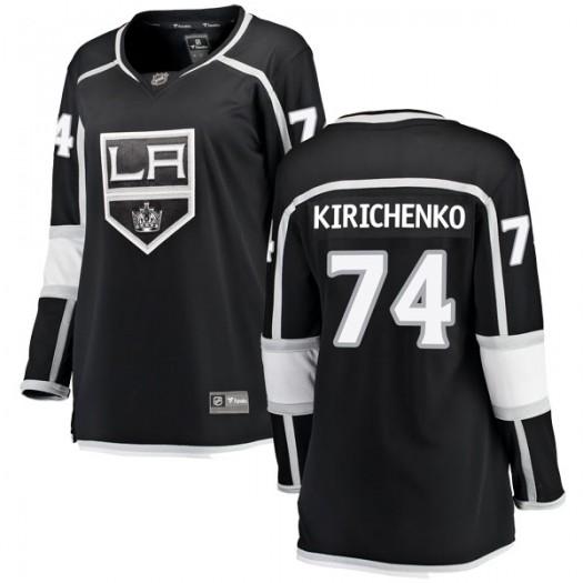 Clayton Kirichenko Los Angeles Kings Women's Fanatics Branded Black Breakaway Home Jersey