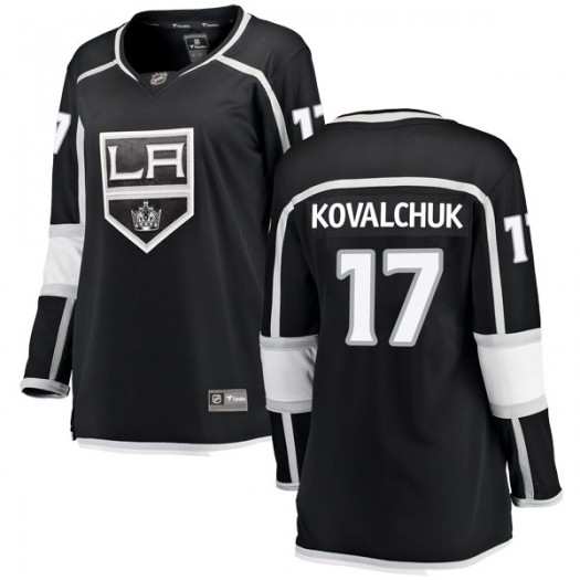 Ilya Kovalchuk Los Angeles Kings Women's Fanatics Branded Black Breakaway Home Jersey