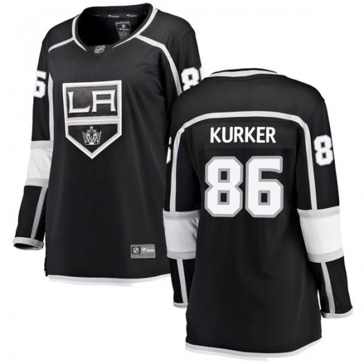 Sam Kurker Los Angeles Kings Women's Fanatics Branded Black Breakaway Home Jersey