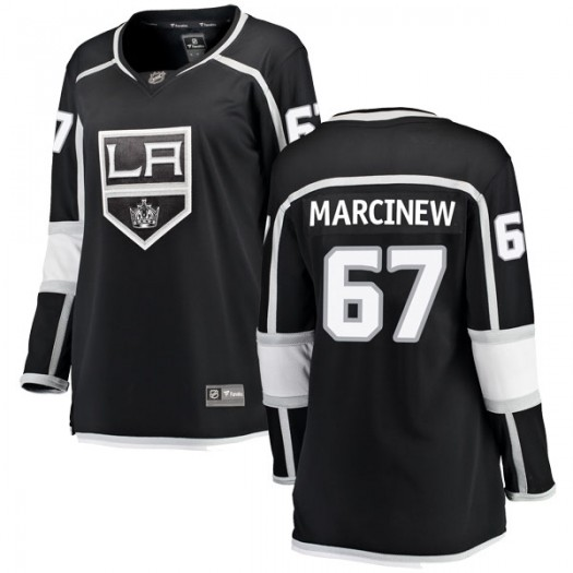 Matt Marcinew Los Angeles Kings Women's Fanatics Branded Black Breakaway Home Jersey