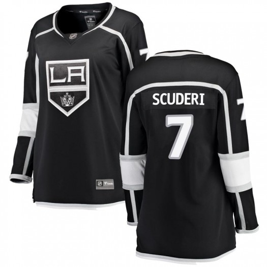 Rob Scuderi Los Angeles Kings Women's Fanatics Branded Black Breakaway Home Jersey
