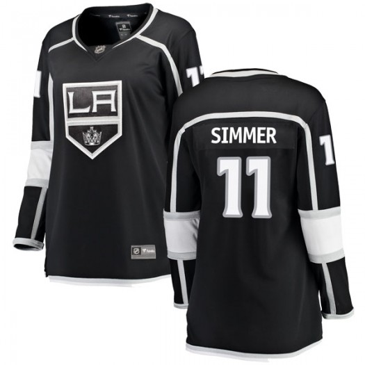Charlie Simmer Los Angeles Kings Women's Fanatics Branded Black Breakaway Home Jersey