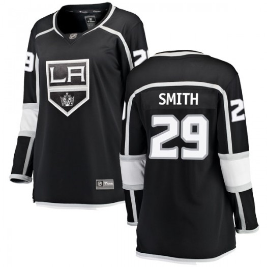 Billy Smith Los Angeles Kings Women's Fanatics Branded Black Breakaway Home Jersey