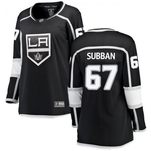 Jordan Subban Los Angeles Kings Women's Fanatics Branded Black Breakaway Home Jersey