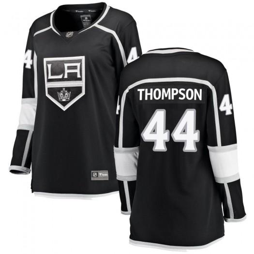 Nate Thompson Los Angeles Kings Women's Fanatics Branded Black Breakaway Home Jersey