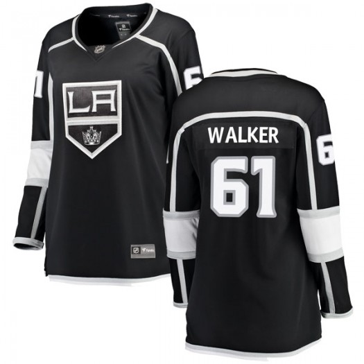 Sean Walker Los Angeles Kings Women's Fanatics Branded Black Breakaway Home Jersey
