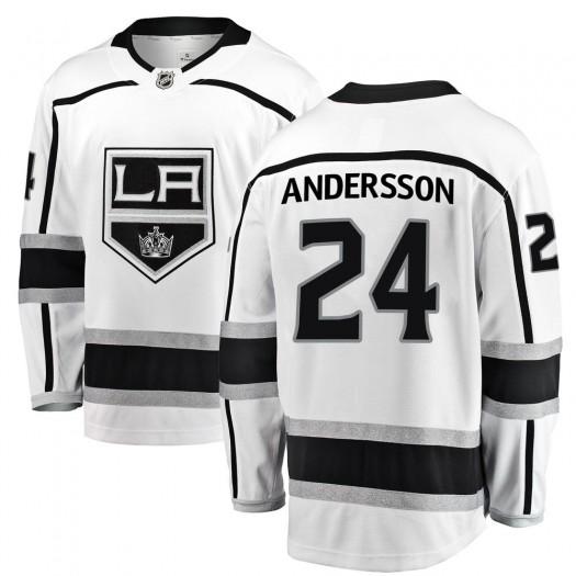 Lias Andersson Los Angeles Kings Men's Fanatics Branded White Breakaway Away Jersey