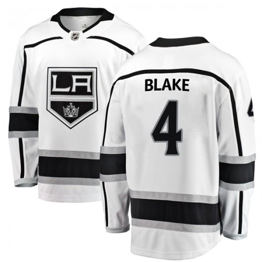 Rob Blake Los Angeles Kings Men's Fanatics Branded White Breakaway Away Jersey