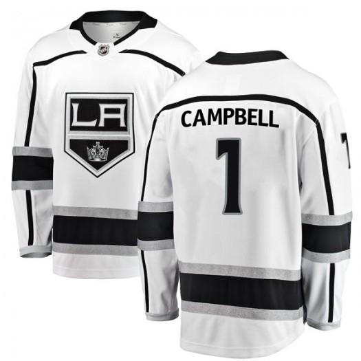 Jack Campbell Los Angeles Kings Men's Fanatics Branded White Breakaway Away Jersey