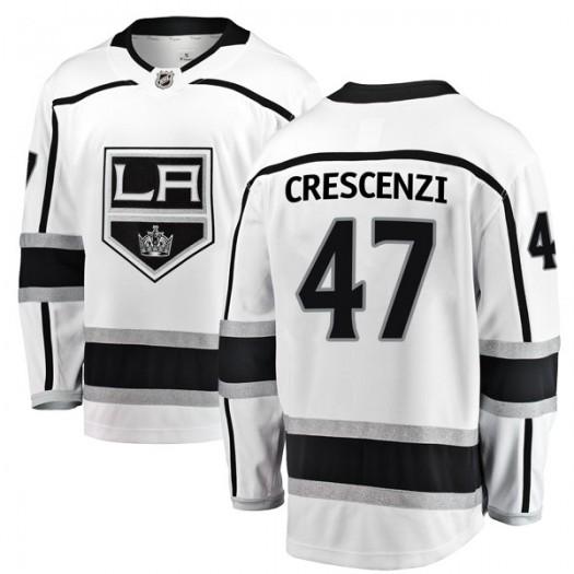 Andrew Crescenzi Los Angeles Kings Men's Fanatics Branded White Breakaway Away Jersey