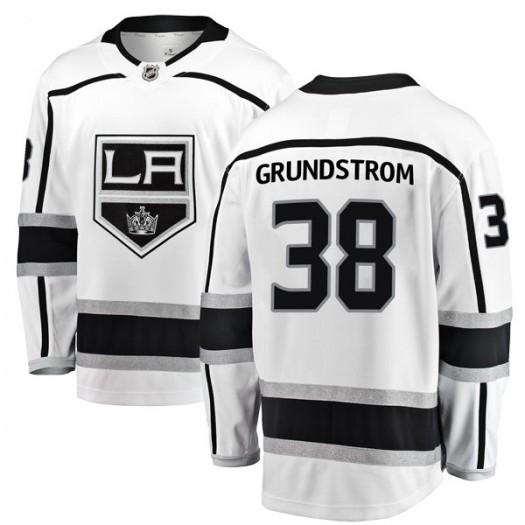 Carl Grundstrom Los Angeles Kings Men's Fanatics Branded White Breakaway Away Jersey
