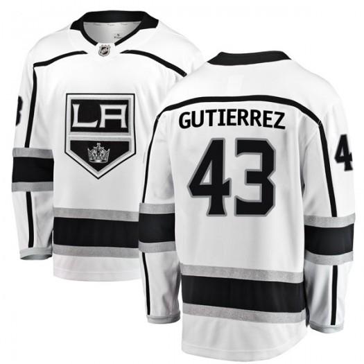 Justin Gutierrez Los Angeles Kings Men's Fanatics Branded White Breakaway Away Jersey