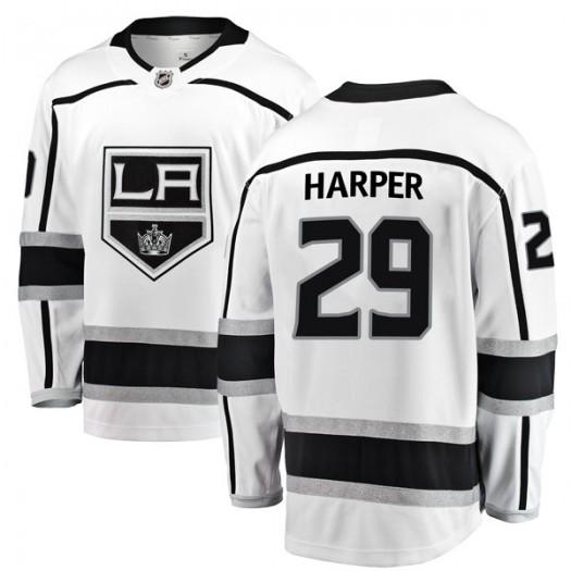Shane Harper Los Angeles Kings Men's Fanatics Branded White Breakaway Away Jersey