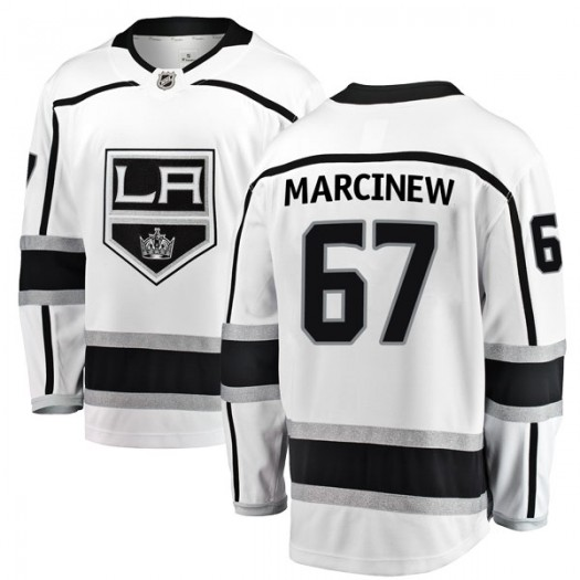 Matt Marcinew Los Angeles Kings Men's Fanatics Branded White Breakaway Away Jersey