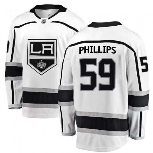 Markus Phillips Los Angeles Kings Men's Fanatics Branded White Breakaway Away Jersey