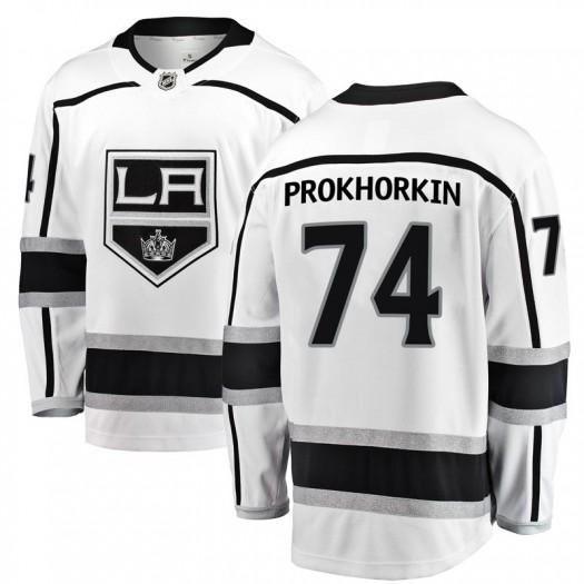 Nikolai Prokhorkin Los Angeles Kings Men's Fanatics Branded White Breakaway Away Jersey