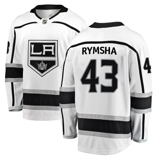 Drake Rymsha Los Angeles Kings Men's Fanatics Branded White Breakaway Away Jersey