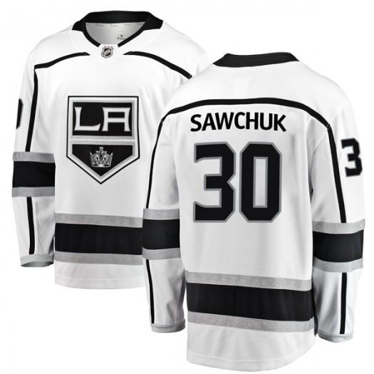 Terry Sawchuk Los Angeles Kings Men's Fanatics Branded White Breakaway Away Jersey