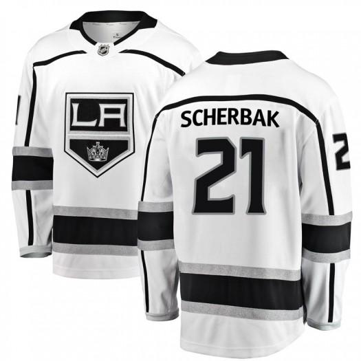 Nikita Scherbak Los Angeles Kings Men's Fanatics Branded White Breakaway Away Jersey