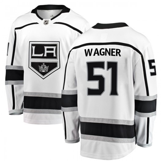 Austin Wagner Los Angeles Kings Men's Fanatics Branded White Breakaway Away Jersey