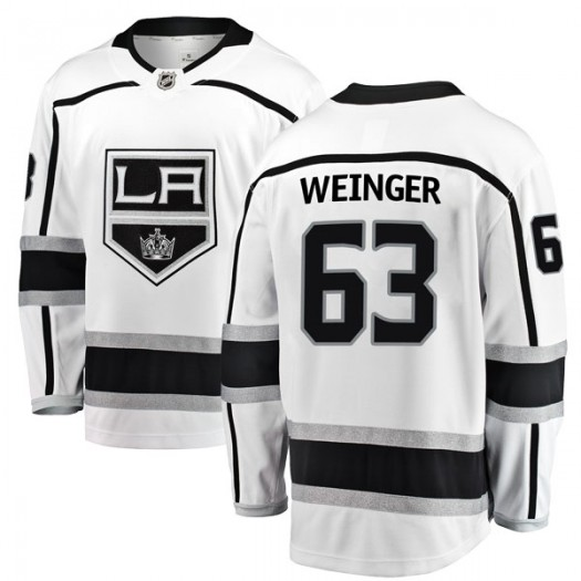Evan Weinger Los Angeles Kings Men's Fanatics Branded White Breakaway Away Jersey
