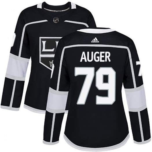 Justin Auger Los Angeles Kings Women's Adidas Authentic Black Home Jersey