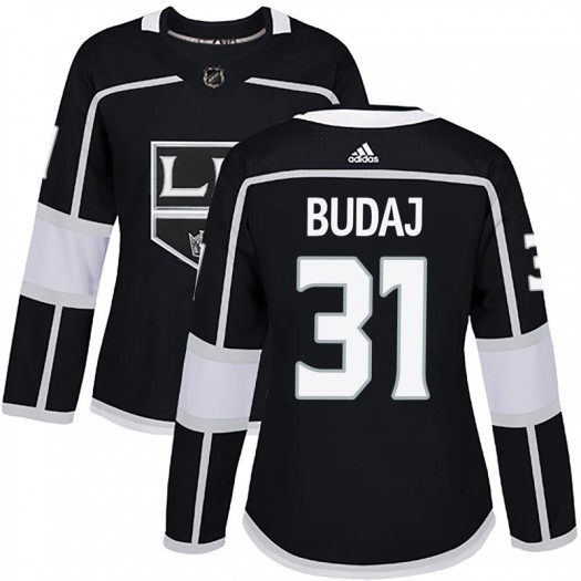 Peter Budaj Los Angeles Kings Women's Adidas Authentic Black Home Jersey