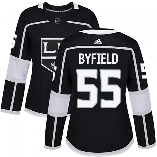 Quinton Byfield Los Angeles Kings Women's Adidas Authentic Black Home Jersey