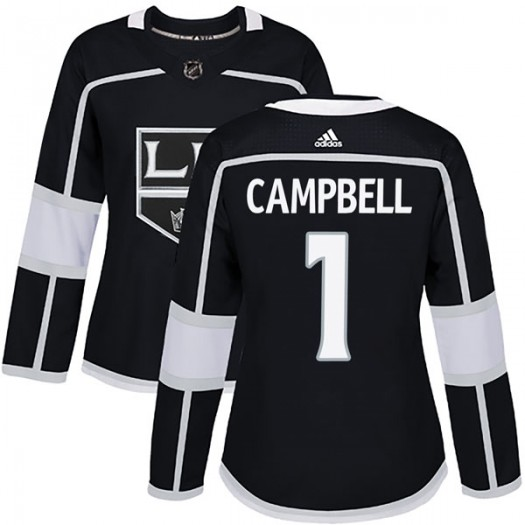 Jack Campbell Los Angeles Kings Women's Adidas Authentic Black Home Jersey