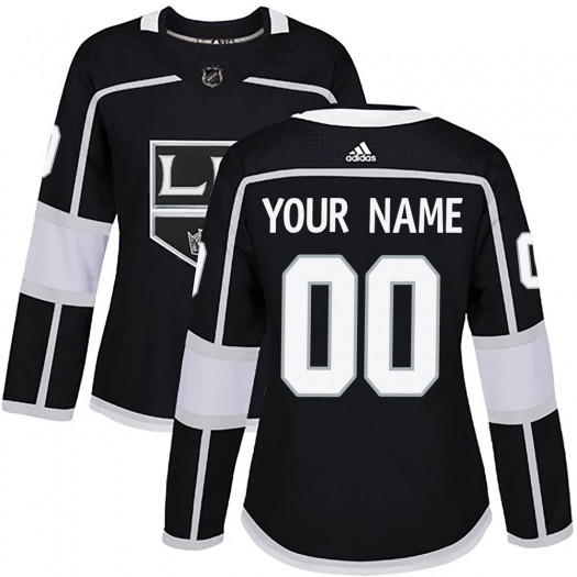 Women's Adidas Los Angeles Kings Customized Authentic Black Home Jersey