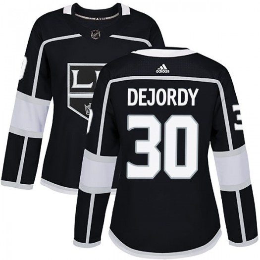 Denis Dejordy Los Angeles Kings Women's Adidas Authentic Black Home Jersey