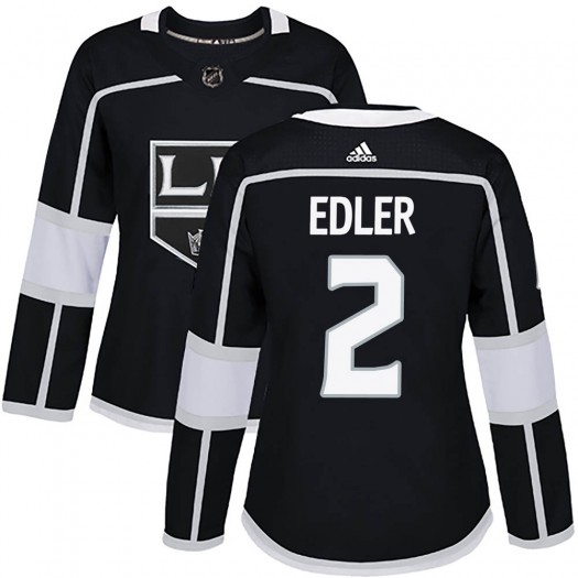 Alexander Edler Los Angeles Kings Women's Adidas Authentic Black Home Jersey