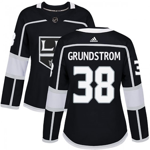 Carl Grundstrom Los Angeles Kings Women's Adidas Authentic Black Home Jersey