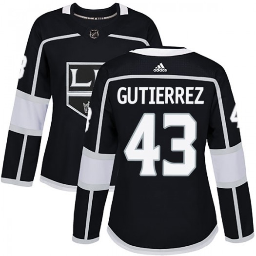 Justin Gutierrez Los Angeles Kings Women's Adidas Authentic Black Home Jersey