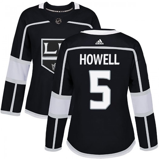 Harry Howell Los Angeles Kings Women's Adidas Authentic Black Home Jersey