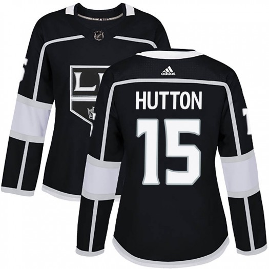 Ben Hutton Los Angeles Kings Women's Adidas Authentic Black Home Jersey