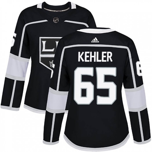 Cole Kehler Los Angeles Kings Women's Adidas Authentic Black Home Jersey