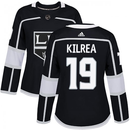 Brian Kilrea Los Angeles Kings Women's Adidas Authentic Black Home Jersey