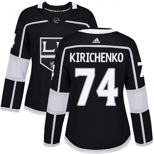 Clayton Kirichenko Los Angeles Kings Women's Adidas Authentic Black Home Jersey