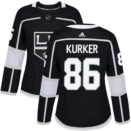 Sam Kurker Los Angeles Kings Women's Adidas Authentic Black Home Jersey