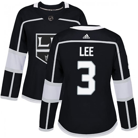 Chris Lee Los Angeles Kings Women's Adidas Authentic Black Home Jersey