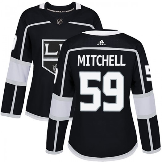 Zack Mitchell Los Angeles Kings Women's Adidas Authentic Black Home Jersey