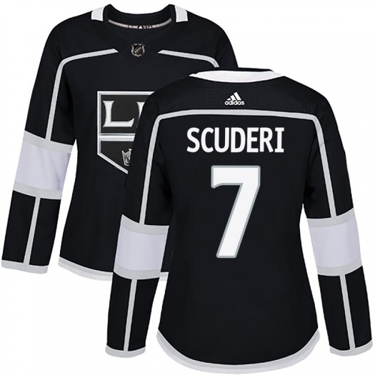 Rob Scuderi Los Angeles Kings Women's Adidas Authentic Black Home Jersey