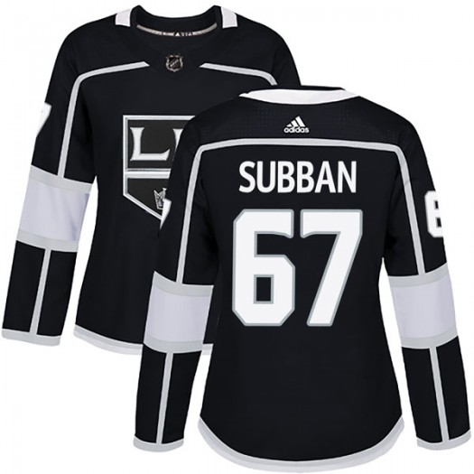 Jordan Subban Los Angeles Kings Women's Adidas Authentic Black Home Jersey