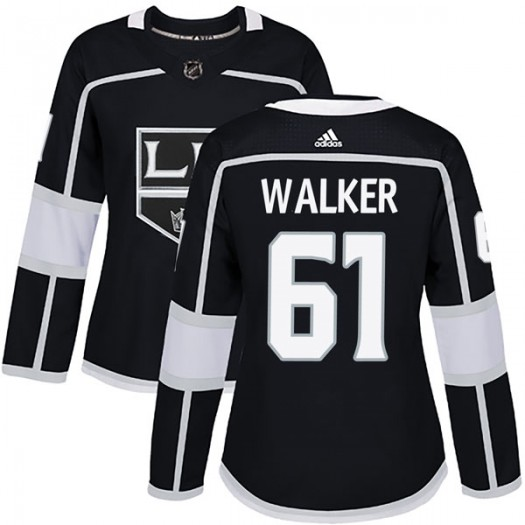 Sean Walker Los Angeles Kings Women's Adidas Authentic Black Home Jersey